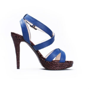 Blue stiletto heel